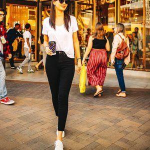 UNIQLO Womens High Rise Skinny Ankle Jean Leggings
